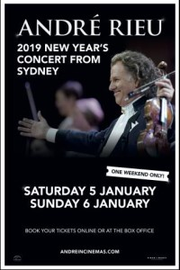 Andre Rieu's 2019 New Year's Concert From Sydney -click for show times